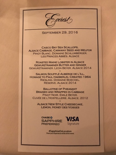 Chase Sapphire Private Dinner Series Everest Chicago With Chef Jean Joho Moore With Miles